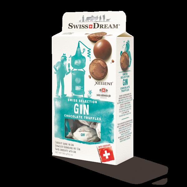 Boules de chocolat noir fourré à la ganache de chocolat au lait et au gin Xellent®